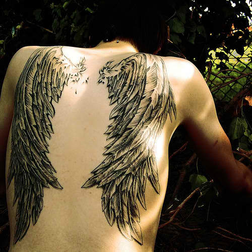 Angel Wings Tattoo Design Ideas Pictures Gallery