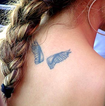 Shoulder Angel Wings Tattoo Small