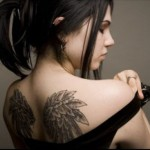 Angel Wings Tattoo Design12 150x150 - 100's of Angel Wings Tattoo Design Ideas Pictures Gallery