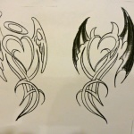 Angel and Devil Tattoo31 150x150 - 100's of Angel and Devil Tattoo Design Ideas Pictures Gallery