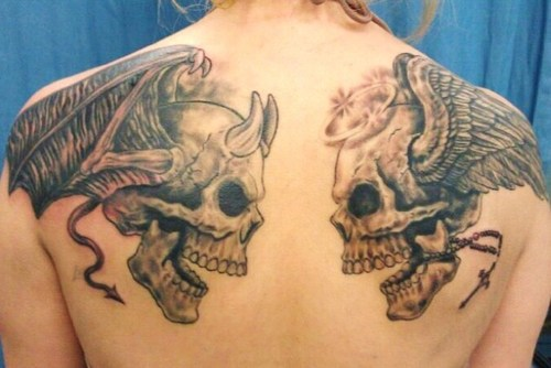 100s Of Angel And Devil Tattoo Design Ideas Pictures Gallery