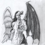 Angel and Devil Tattoo6 150x150 - 100's of Angel and Devil Tattoo Design Ideas Pictures Gallery