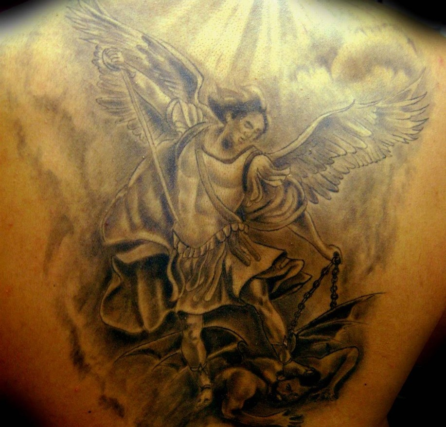100 39 s of archangel tattoo design ideas pictures gallery. Black Bedroom Furniture Sets. Home Design Ideas