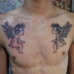 Cherub 3 150x150 - 100's of Cherub Tattoo Design Ideas Pictures Gallery
