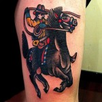 Cowboy Tattoo Design Ideas Pictures Gallery