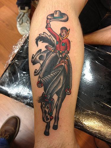 Татуировка ковбой значение