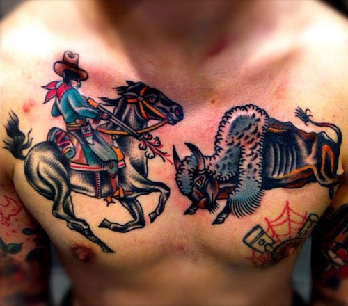 100's of Cowboy Tattoo Design Ideas Pictures Gallery