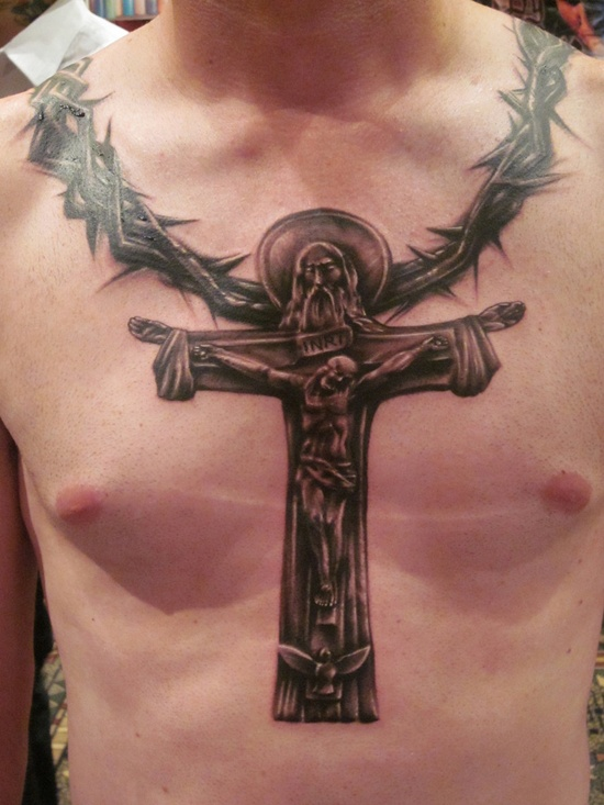 100's of Crucifix Tattoo Design Ideas Pictures Gallery