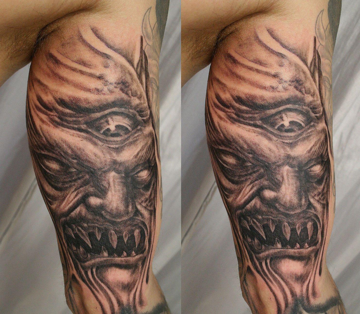 Demon Tattoos: 100's Of Demon Tattoo Design Ideas Pictures Gallery