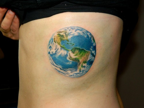 Earth Tattoo Design Ideas Pictures Gallery