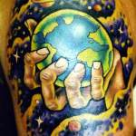Earth Tattoo Design11 150x150 - 100's of Earth Tattoo Design Ideas Pictures Gallery