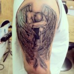 Fallen Angel Tattoo design3 150x150 - 100's of Fallen Angel Tattoo Design Ideas Pictures Gallery