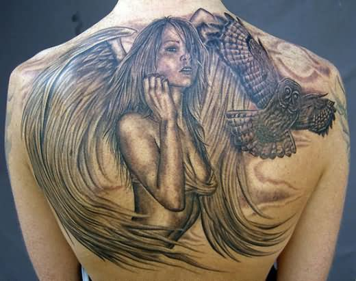 Girl Angel Tattoo Design Ideas Pictures Gallery