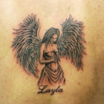 Girl Angel Tattoo6 150x150 - 100's of Girl Angel Tattoo Design Ideas Pictures Gallery