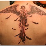 Girl Angel Tattoo8 150x150 - 100's of Girl Angel Tattoo Design Ideas Pictures Gallery