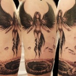 Girl Angel Tattoo9 150x150 - 100's of Girl Angel Tattoo Design Ideas Pictures Gallery