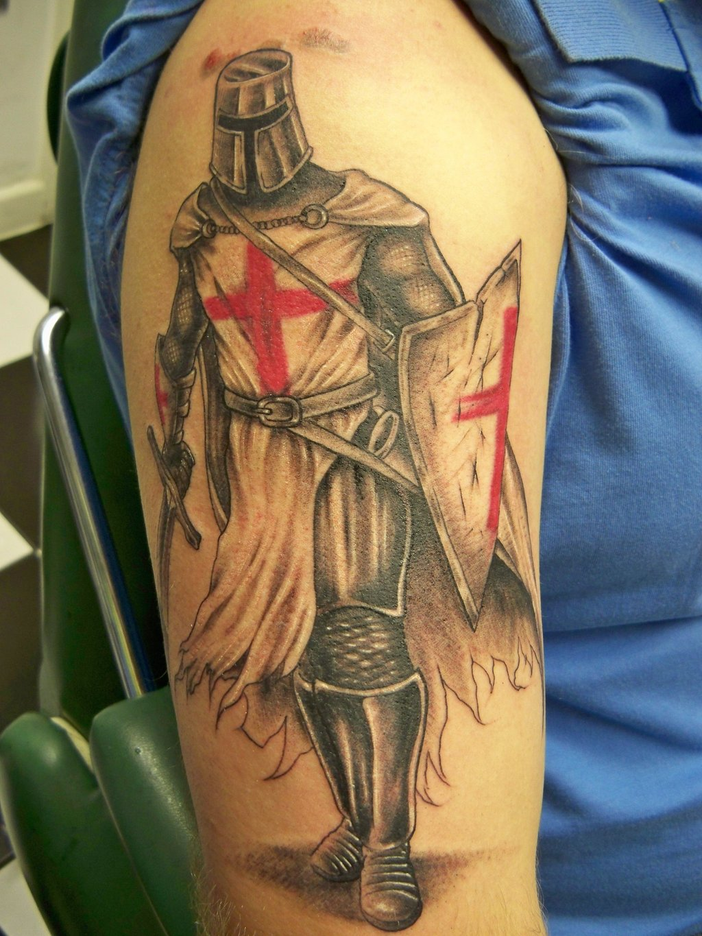 100's of Knight Tattoo Design Ideas Pictures Gallery