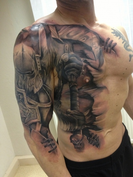 Knight Tattoo Design Ideas Pictures Gallery