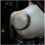 Moon Tattoo Design8 150x150 - 100's of Moon Tattoo Design Ideas Pictures Gallery