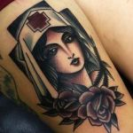 Nurse 11 150x150 - 100's of Nurse Tattoo Design Ideas Pictures Gallery