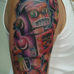 Robot 4 150x150 - 100's of Robot Tattoo Design Ideas Pictures Gallery