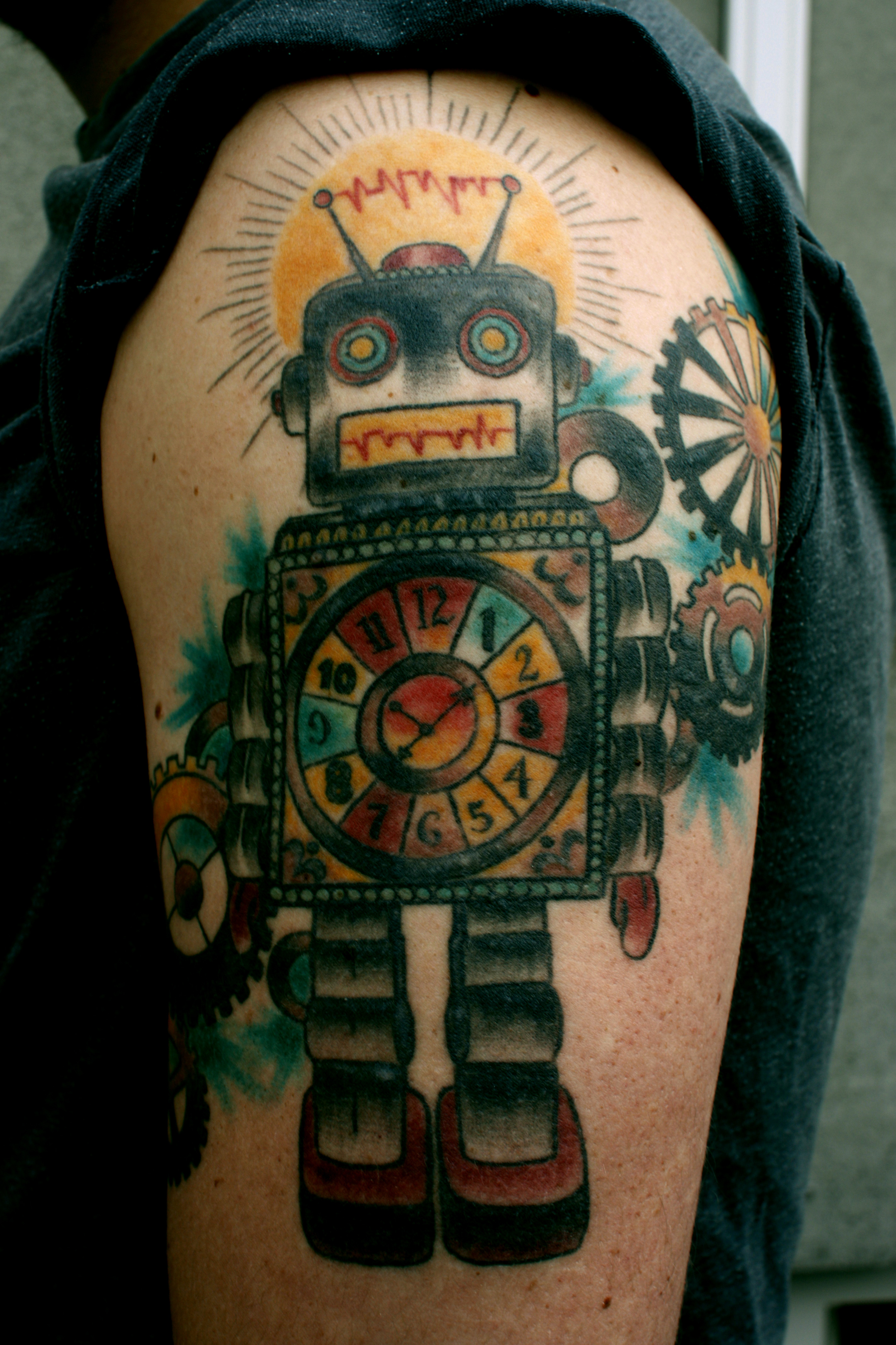 100's of Robot Tattoo Design Ideas Pictures Gallery