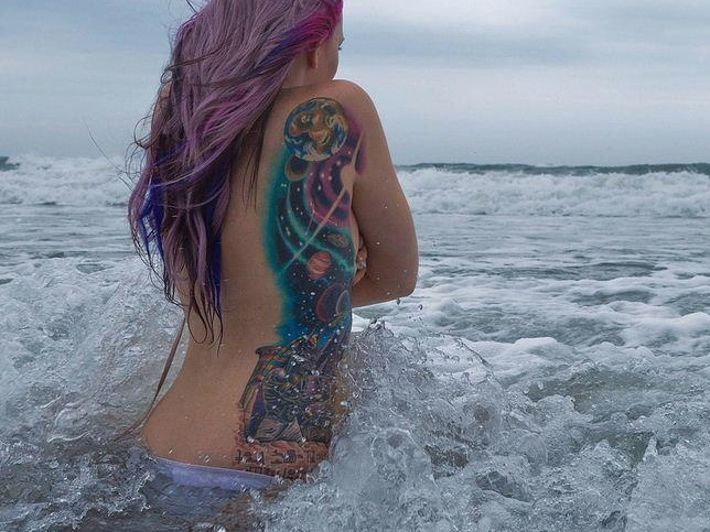 100's of Space Tattoo Design Ideas Pictures Gallery