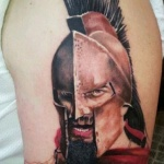 Spartan 3 150x150 - 100's of Spartan Tattoo Design Ideas Pictures Gallery