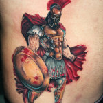 Spartan 9 150x150 - 100's of Spartan Tattoo Design Ideas Pictures Gallery