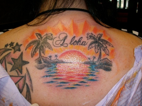 Sunset Tattoo Design Ideas Pictures Gallery