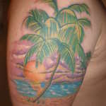 Sunset Tattoo Design6 150x150 - 100's of Sunset Tattoo Design Ideas Pictures Gallery