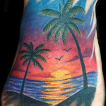 Sunset Tattoo Design7 150x150 - 100's of Sunset Tattoo Design Ideas Pictures Gallery