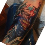 Superman 2 150x150 - 100's of Superman Tattoo Design Ideas Pictures Gallery