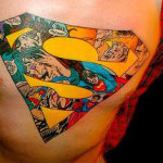 Superman 4 150x150 - 100's of Superman Tattoo Design Ideas Pictures Gallery