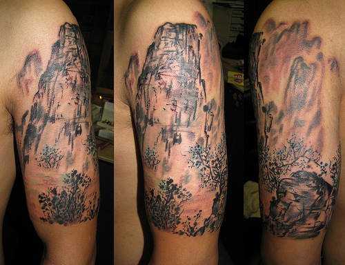 Tattoos of Paintings Design Ideas Pictures Gallery