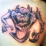 Taz 12 150x150 - 100's of Taz Tattoo Design Ideas Pictures Gallery
