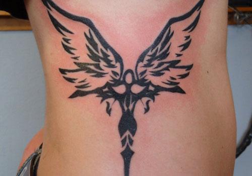 Pics Photos  Tattoos Ideas Tattoo Angel Tribal Black And