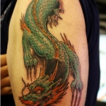 Arm Dragon 12 150x150 - 100's of Arm Dragon Tattoo Design Ideas Pictures Gallery