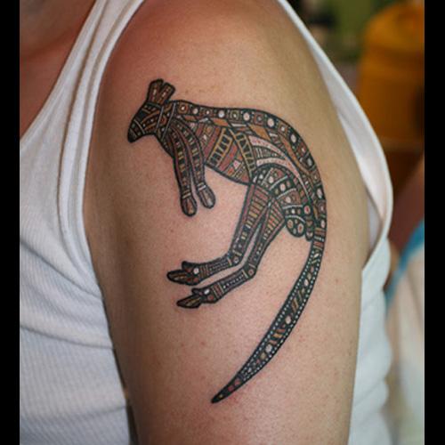 Aussie Kangaroo Tattoo Designs