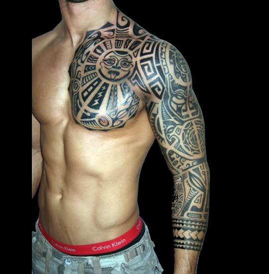 Aztec tribal tattoo designs