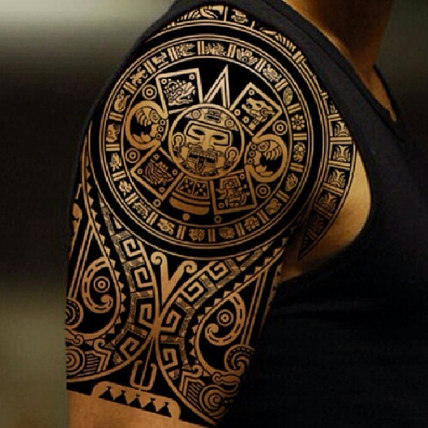 Aztec Tribal Tattoo11 - 100's of Aztec Tribal Tattoo Design Ideas Pictures Gallery