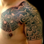 Aztec Tribal Tattoo2 150x150 - 100's of Aztec Tribal Tattoo Design Ideas Pictures Gallery