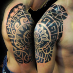 Aztec Tribal Tattoo8 150x150 - 100's of Aztec Tribal Tattoo Design Ideas Pictures Gallery