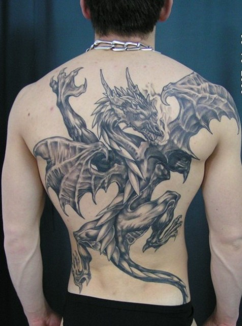 100s of back dragon tattoo design ideas pictures gallery
