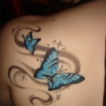 Butterfly Tattoos for Girls 3 150x150 - 100's of Butterfly Tattoos for Girls Design Ideas Pictures Gallery