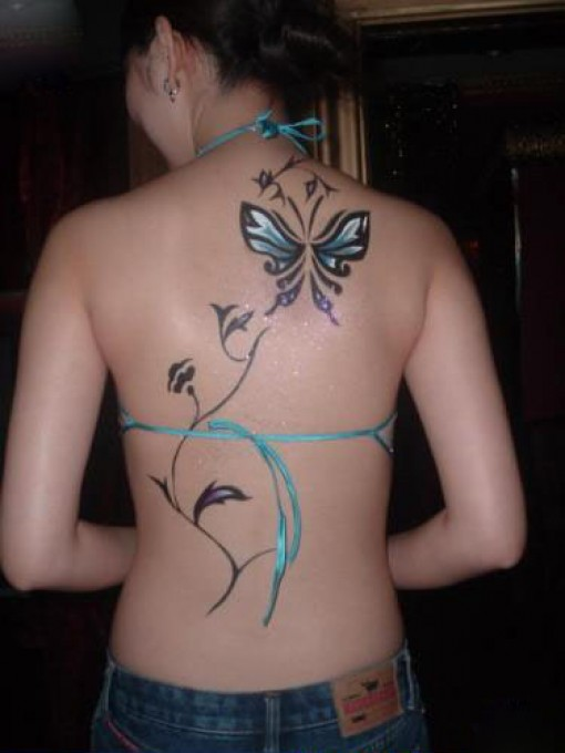 100's of Butterfly Tattoos for Girls Design Ideas Pictures Gallery
