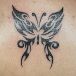 Butterfly Tribal Tattoo11 150x150 - 100's of Butterfly Tattoo Design Ideas Picture Gallery
