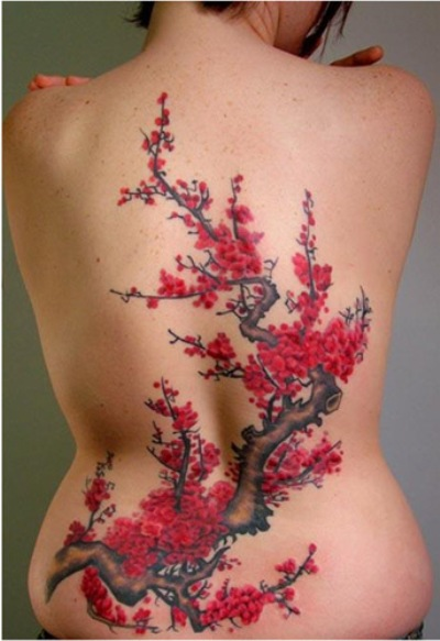 100 Cherry Blossom Tattoo Designs For Men: 100's Of Cherry Blossom Tattoo Design Ideas Pictures Gallery