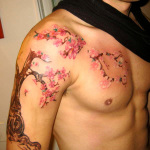 Cherry Blossom Tattoos 8 150x150 - 100's of Cherry Blossom Tattoo Design Ideas Pictures Gallery
