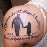 Dad 51 150x150 - 100's of Dad Tattoo Design Ideas Pictures Gallery